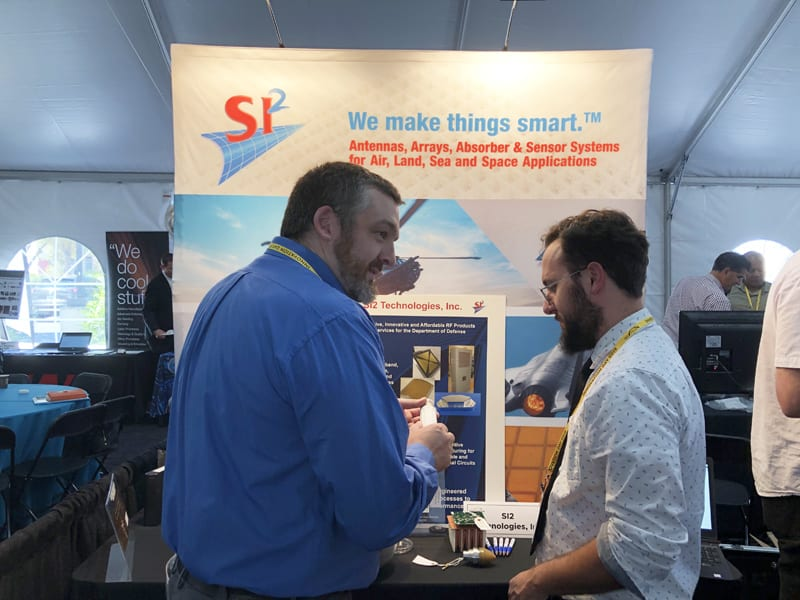 The SI2 Technologies booth at the NextFlex Innovation Day