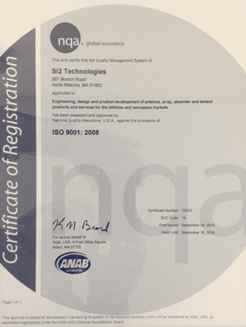 SI2 Technologies ISO 9001:2008 Certification