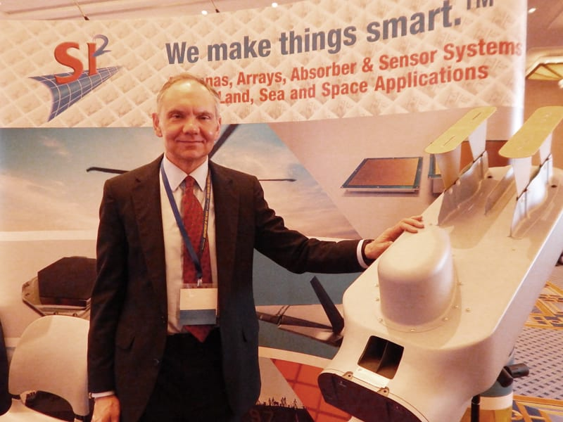Principal Investigator for SI2, David Mahoney, with the RQ-21 Integrated Antenna Suite