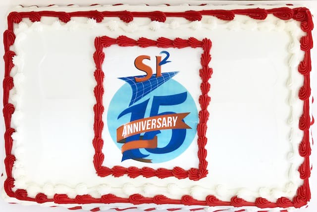 cake with SI2 15th Anniversary logo