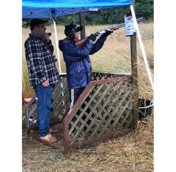 SI2 Executive VP of Strategic Development shows his natural skills during the trap shootout and fundraiser